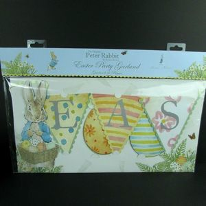 Peter Rabbit Easter Party Garland Banner Sign